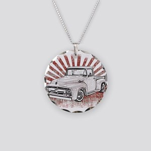 1956 Ford Truck Necklace Circle Charm