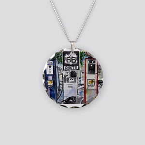 route_66 Necklace Circle Charm