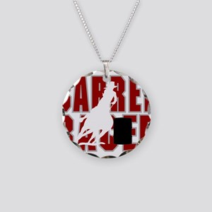 BARREL RACER [maroon] Necklace Circle Charm