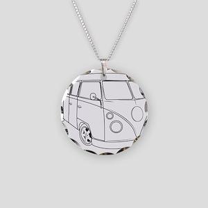 70s Van Necklace Circle Charm