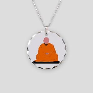 ZEN MONK Necklace Circle Charm