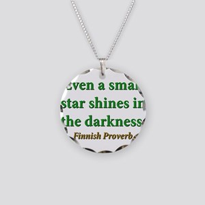 Even A Small Star Shines Necklace Circle Charm