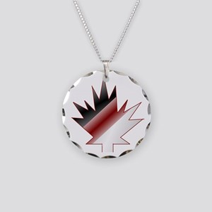 Maple Leaf Necklace Circle Charm