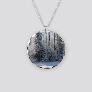 Deep Woods Winter Glow Necklace Circle Charm
