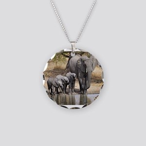 Elephant mom and babies Necklace
