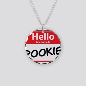 Hello My Name is Pookie Necklace Circle Charm