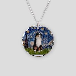 TILE-Starry-Aussie2 Necklace Circle Charm