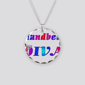 Handbell Diva Necklace Circle Charm