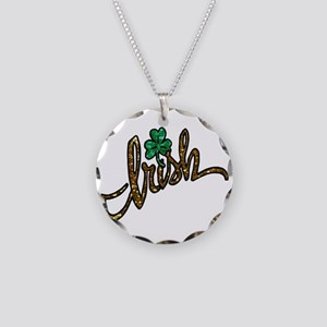 irish clover shamrock Necklace Circle Charm