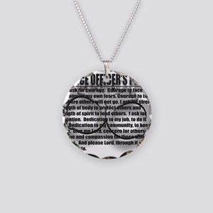 A POLICE OFFICER'S PRAYER Necklace Circle Charm