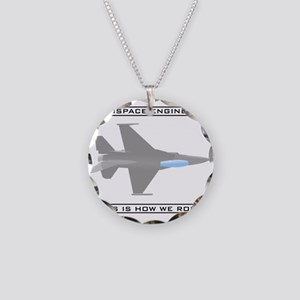 Aero Engineers: How We Roll Necklace Circle Charm