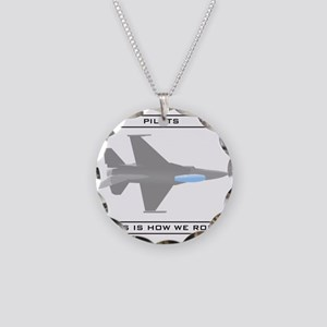 Pilots: How We Roll Necklace Circle Charm