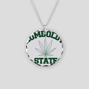 HUMBOLDT POT STATE Necklace Circle Charm