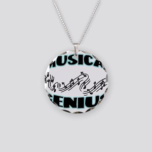 Musical Genius Necklace Circle Charm
