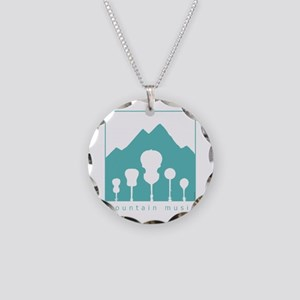 Mountain Music Necklace Circle Charm