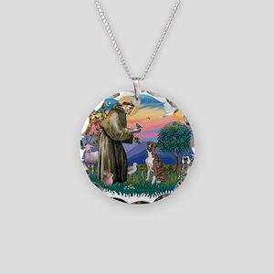 St.Francis #2/ Boxer (nat ea Necklace Circle Charm