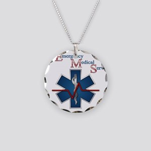 EMS Life Line Necklace Circle Charm