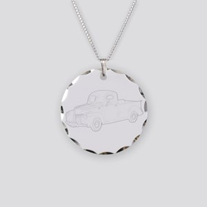 Ford Pickup 1940 Necklace Circle Charm