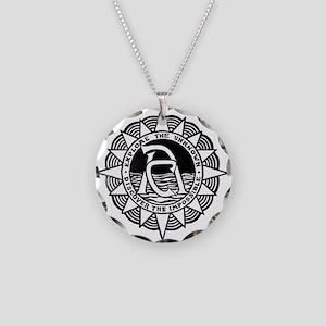 •Adventurers Club Retr Necklace Circle Charm