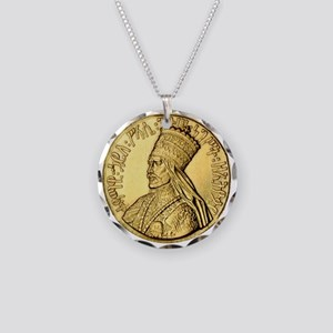 Haile Selassie I King of Kings Necklace Circle Cha