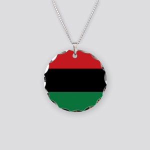 The Red, Black and Green Flag Necklace Circle Char