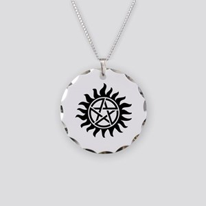 Tattoo Necklace Circle Charm