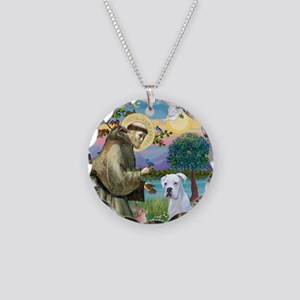 St . Francis (W)- Necklace Circle Charm