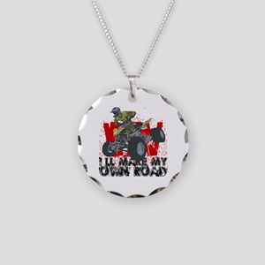 ATV My Own Road Necklace Circle Charm