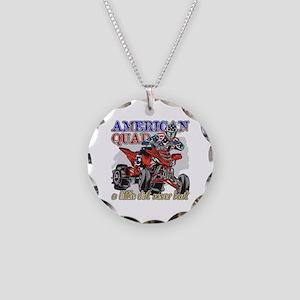 American Quad Necklace Circle Charm
