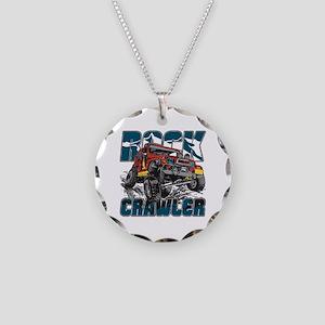 Rock Crawler 4x4 Necklace Circle Charm