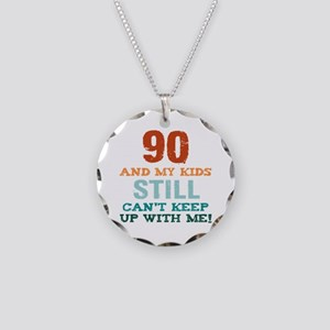 90th Birthday For Parents Necklace Circle Charm