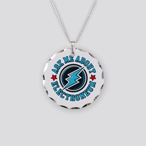 Ask Me About Electroneum Necklace Circle Charm