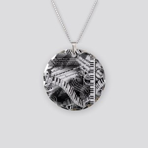 Classical Piano Mozart Music Necklace Circle Charm