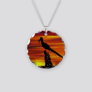 Roadrunner tp Necklace Circle Charm