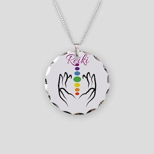 REIKI Necklace Circle Charm