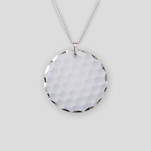 Golf Ball Texture Necklace Circle Charm