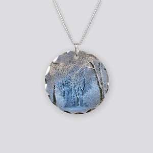 Another Winter Wonderland Necklace Circle Charm