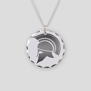 Ancient Greek Spartan Helmet Necklace Circle Charm