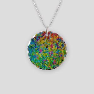 Rainbow Fields Necklace Circle Charm