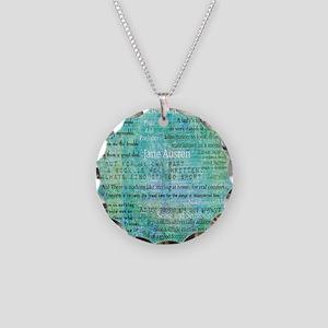 Jane Austen quotes Necklace Circle Charm
