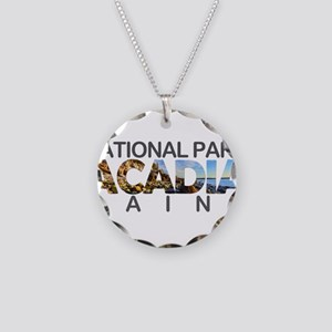 Acadia - Maine Necklace Circle Charm