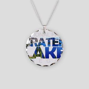 Crater Lake - Oregon Necklace Circle Charm