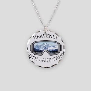 Heavenly Ski Resort - Sout Necklace Circle Charm