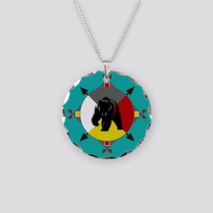 Cherokee Four Directions Bea Necklace Circle Charm
