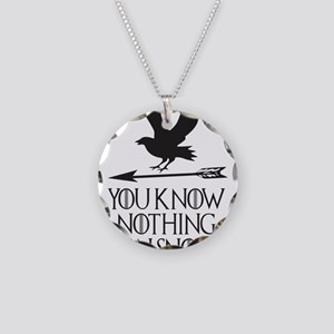 You know nothing Jon Snow Necklace Circle Charm
