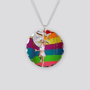 Cammie20ColorBrightShirt Necklace Circle Charm