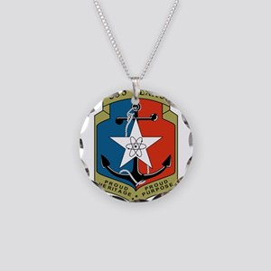 USS Texas (CGN 39) Necklace Circle Charm