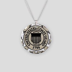 cg_blk Necklace Circle Charm