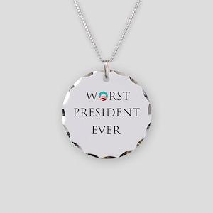 obama1 Necklace Circle Charm