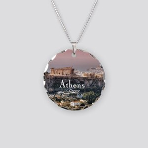 Athens Necklace Circle Charm